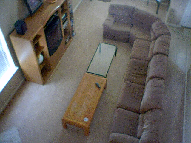 sectional couch from above