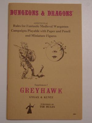 Supplement I: Greyhawk