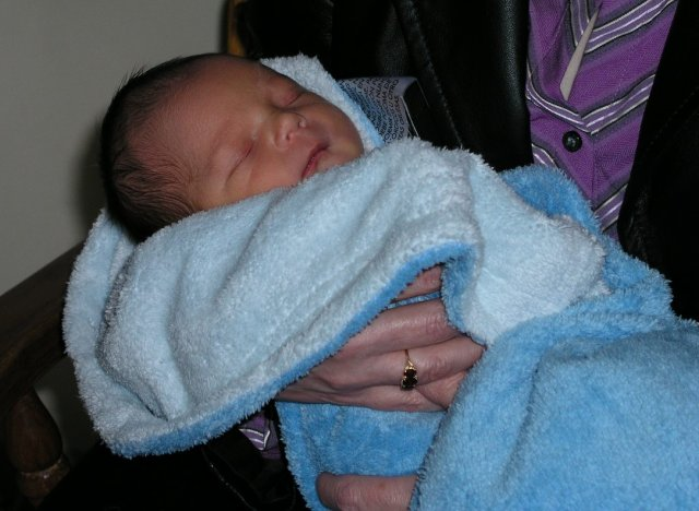 nephew Hayden at two days old